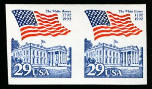 US #2609b IMPERF PAIR,  VF/XF mint never hinged,   a super select error,  Won...