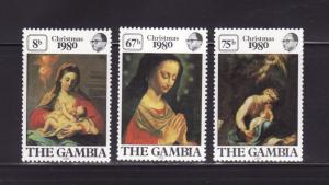 Gambia 417-419 Set MNH Christmas (A)