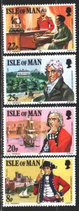 Isle Of Man. 1981. 189-92. Mark Wilks, historian, militaria, sailboats. MNH.