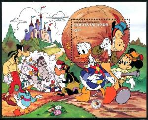 Caicos Islands, MNH, Walt Disney characters, Brothers Grimm.. x7914