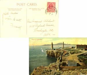 Gibraltar 1d KEVII 1910 Gibraltar, 25 PPC (Strait of Gibraltar) to Washington...
