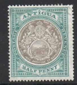 Antigua Sc 21 1903 1/d blue green & black seal of Colony  stamp mint