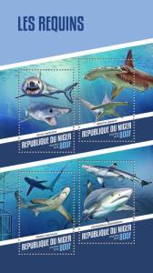 Z08 NIG18102a Niger 2018 Sharks MNH ** Postfrisch