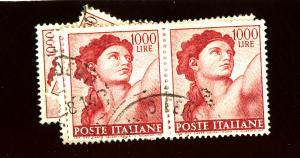 Italy #831 (6) UseD F-VF Cat $33