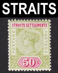 Malaya Straits Settlements Scott 87 F to VF mint OG HR.