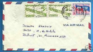HAITI, PORT- AU- PRINCE -  DETROIT, 1960  MULTI FRANKED  ...