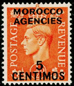 MOROCCO AGENCIES SG182, 5c on ½d pale orange, LH MINT.