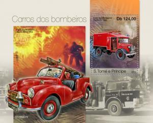 SAO TOME - 2019 - Fire Engines - Perf Souv Sheet - MNH