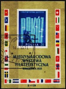Poland. 1955 Miniature Sheet. S.G.MS944b Fine Used