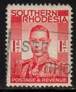 Souhern Rhodesia Scott 43 - SG41, 1937 George VI 1d, used
