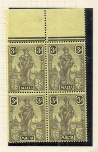 Malta 1926 Early Issue Fine Mint Hinged 3d. 321564