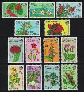 Gambia Flowers and Shrubs 13v D1 SG#371=383 MI#345-357