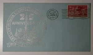 Indiana Stamp Club 25th Anniv Antlers Hotel Indianapolis IN 1953 Philatelic Expo