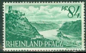 Germany - French Occupation - Rhine Palatinate - Scott 6N14 (SP)