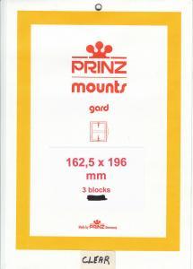 PRINZ CLEAR MOUNTS 162.5X196 (3) RETAIL PRICE $10.50