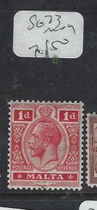 MALTA (PP1303B)  KGV  1 D     SG 73    MOG