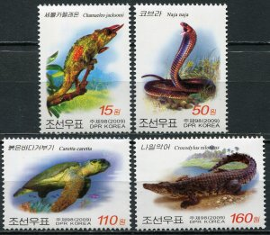 Korea 2009. Reptiles (MNH OG) Set of 4 stamps