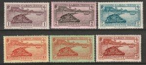 Gabon 1932 Sc 124/131 partial set most MH* some disturbed gum