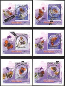 {071} Sao Tome & Principe 2010 Butterflies 6 S/S Deluxe MNH**