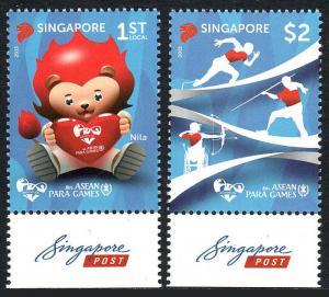 Singapore 1760-1761, MNH. 8th ASEAN Para Games, 2015