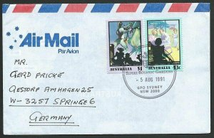 AUSTRALIA 1991 cover to Germany - nice franking - Sydney Pictorial pmk.....47302
