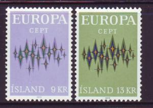 Iceland Sc 439-40 1972  Europa  stamps mint NH