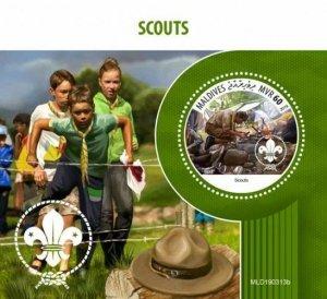 Z08 MLD190313b MALDIVES 2019 Scouts MNH ** Postfrisch