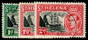 ST. HELENA SG149-151, COMPLETE SET, FINE USED, CDS.