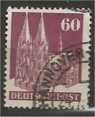 GERMANY, 1948, used 60pf violet brn, Cologne Scott 654a