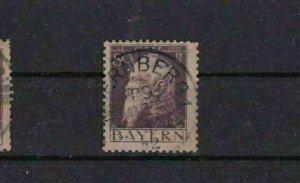 BAVARIA 1911 SG 147 80PF TYPE 1 VIOLET/DRAB CAT £38 USED STAMP   R 2253