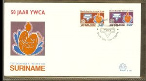 1992 - Rep. Surinam FDC E156 - Organizations - 50 years Young Woman Christian...