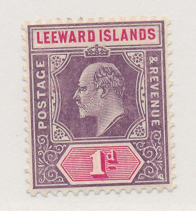 Leeward Islands Stamp Scott #30, Mint Hinged - Free U.S. Shipping, Free World...