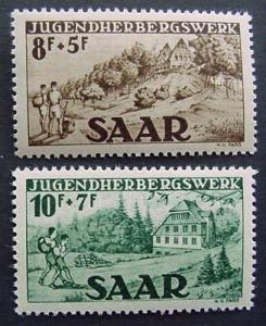 Germany, Saar, Scott B65 and B66, both MNH