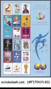 QATAR - 2002 FIFA WORLD CUP FOOTBALL SOCCER MIN/SHT MNH