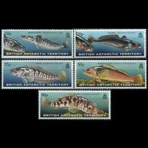 BR.ANTARCTIC TERR. 1999 - Scott# 275-9 Fish Set of 5 NH