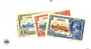 CYPRUS #125-35 MINT FVF OG MOST NH #134 135 THINS Cat $285