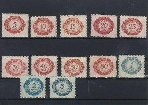 Liechenstein 19+20 MM Postage Due Stamps Ref: R7188