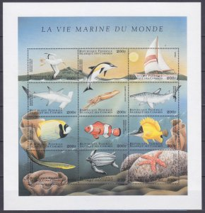 1998 Comoro Islands 1246-57KL Sea fauna 12,00 €