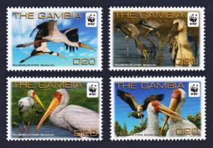 Gambia Birds WWF Yellow-billed Stork 4v