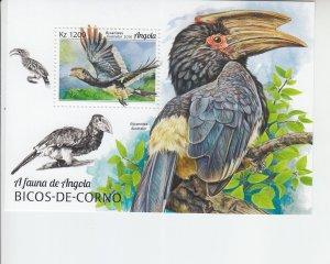 2019 Angola Birds - Hornbills SS (Scott NA) MNH