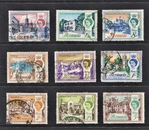 STAMP STATION PERTH Bermuda #179-189 QEII Definitive Used Short Set - CV$23.00