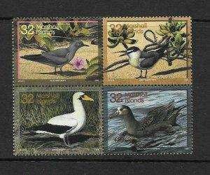 Marshall Islands 1996 native Birds  Scott 603 Block of 4 NH