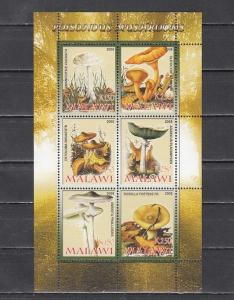 Malawi, 2008 Cinderella issue. Poisonous Mushrooms, sheet of 6.