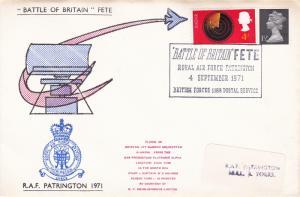 GB 1971 RAF Patrington Battle of Briatain Fete Cover VGC