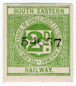 (I.B) South Eastern Railway : Letter Stamp 2d