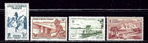 French West Africa 36-39 MLH 1947 part set