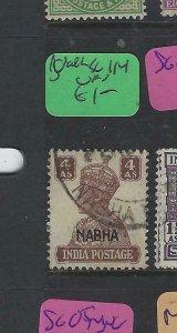 INDIA NABHA  (P1104B)  KGVI   4A  SG 114     VFU