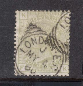 Great Britain #70 Used Plate 16
