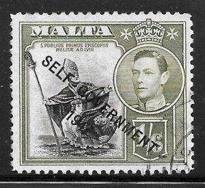 Malta 218: 1/6 St Publius, Overprint, used, VF