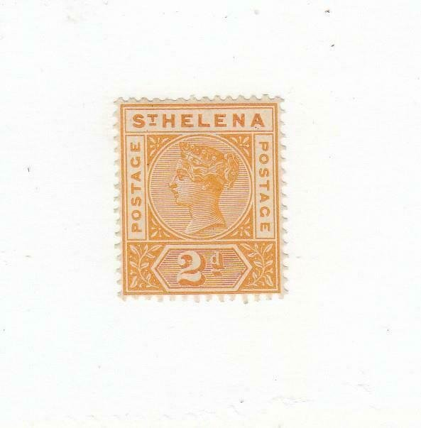 ST. HELENA (MK6687) # 43 VF-MLH  2p 1890-97 QUEEN VICTORIA / YELLOW